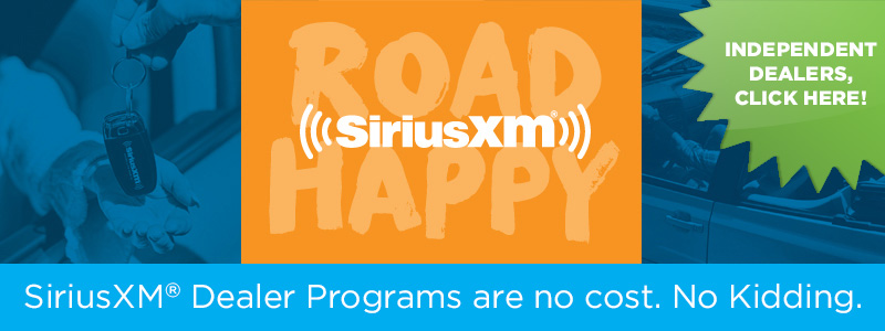 SiriusXM<sup>&reg;</sup> Dealer Programs are no cost. No Kidding.